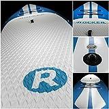 Aufblasbares iRocker-Paddleboard, 304 cm (15,2 cm dick), SUP-Paket – 2 JAHRE GARANTIE (Blau) - 2