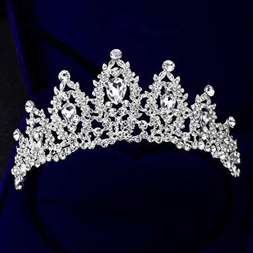 ut Crown Frauen hohlen Kopfschmuck glänzende Prom Hochzeit Krone Strass Dekor ()
