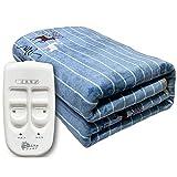 MaiTian 150 * 180cm Doppel elektrische Heizdecke mit doppelter Temperaturregelung, wasserdicht und Überhitzung Schutz sicher für die ganze Nacht verwenden