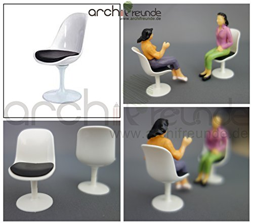 2 x moderne Modell Stuhl Modellbau Büro Wohnzimmer 1:20 Spur G, hoch - Stuhl-modell