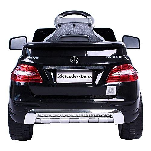 RC Auto kaufen Kinderauto Bild 3: Mercedes-Benz ML Kinder Auto Elektroauto Kinderauto Elektrofahrzeug Kinderfahrzeug mit 2 Motoren MP3 Fernbedienung. Farbe: Schwarz*