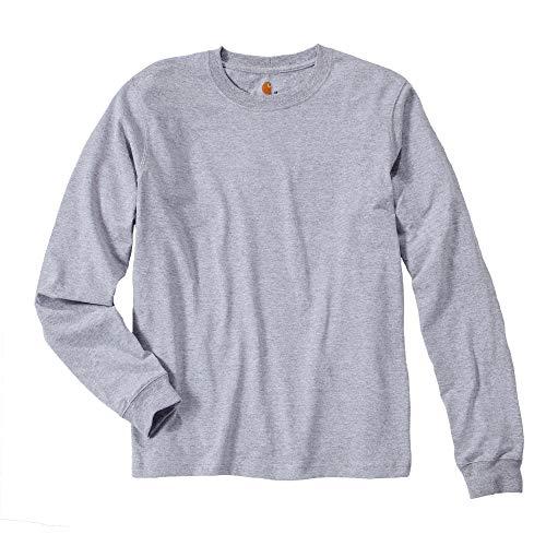 Carhartt Sweatshirt mit langen Ärmeln und Logo, M, Heather Grey (EK231.HGY.S005)
