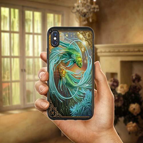 Yin Yang Koi Fisch Weiche TPU Silikon Matte Handy Fall Abdeckung für iPhone X XR XS Max 6 6 s 7 8 Plus 4 4 s 5 5 s SE Coque Shell ()