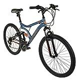 """26"""" Heist Mens KIDS BIKE - Adult MFX Bicycle in BLUE and ORANGE (Dual Sus)"""