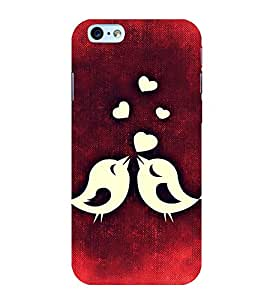 ANIMATED LOVE BIRDS IN A RED BACKGROUND 3D Hard Polycarbonate Designer Back Case Cover for Apple iPhone 5