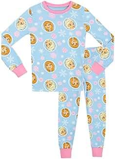 b8229c1df Disney Frozen - El Reino del Hielo - Pijama para niñas - Frozen - Ajuste  Ceñido