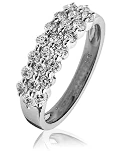 0.80 cts G/VS2 CERTIFIED DIAMOND RING - 18CT WHITE GOLD