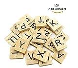Dosige 100 Holz-Alphabet Scrabblefliesen Buchstaben Holz Scrabble Und Zahlen...