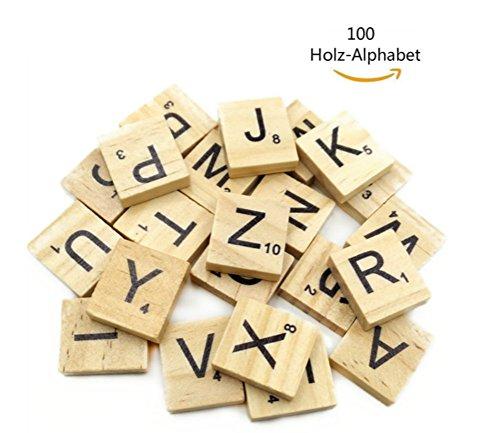 Dosige 100 Holz-Alphabet Scrabblefliesen Buchstaben Holz Scrabble Und Zahlen Buchstaben Alphabet Scrabbles Crafts Für Das Kunsthandwerk (groß- und Kleinbuchstaben gemischt) (Holz-buchstaben Zahlen)