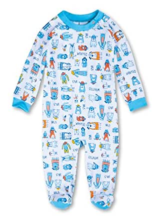 sanetta baby jungen schlafanzug einteiler all over druck 220927 gr 92 blau 10 amazon. Black Bedroom Furniture Sets. Home Design Ideas