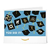 Graduation Caps - Printable Amazon.co.uk Gift Voucher