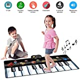 Bakaji Tappeto Tastiera Musicale per Bambini Keyboard Playmat da Pavimento Con 6 Strumenti e Con Funzione di Registratore Playback, 120 x 46cm immagine
