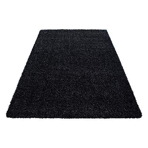 Teppiche Hochflor Shaggy für Wohnzimmer, Esszimmer. Gästezimmer mit 3 cm Florhöhe. Einfarbig Shaggy Teppiche OEKOTEX zertifizierte Teppiche. Cream Braun Lila Rot Anthrazit Taupe Mocca. Verschiedene