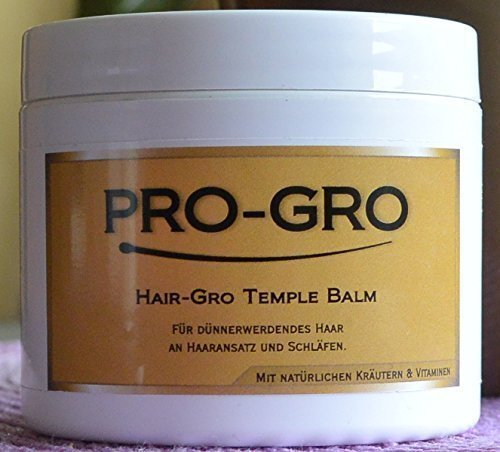 PRO-Gro Hair GRO Baume De Temple 118ml Protecteur de la peau / Crème cheveux - Pour perte de cheveux une Extra fine et Temples - Avec naturel Herbes et Vitamines