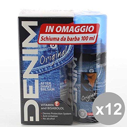 Set 12 DENIM Dopo Barba Balsamo 100+Schiuma Barba 100 Detergenti e profumi uomo