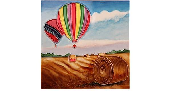 Yh arts mongolfiere decorazione per piastrelle