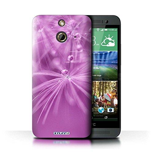 Kobalt® Imprimé Etui / Coque pour HTC One/1 E8 / Fleur Jaune conception / Série Gouttes de Fées Fleur Rose