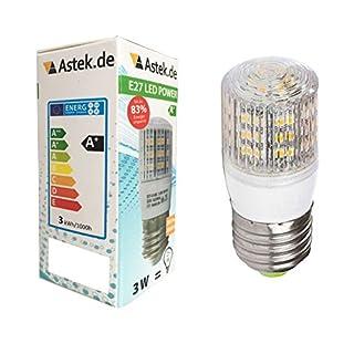 Astek LED E27 Birne Warmweiss 3,5 W / ersetzt 25 W / 280 Lumen / Z11 [Energieklasse A+]
