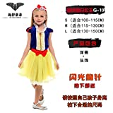 Children's clothingcosplay ChengBai Halloween witch manto bat princesa pumpkin Fancy Dress party servirá , blue velvet blanca nieve G-10,M