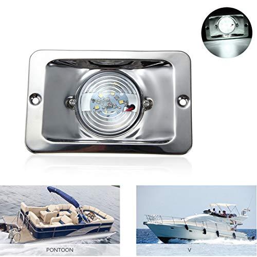 VIGORFLYRUN PARTS LTD 1 stück LED-Navigation Lichter Unterputz Boot LED Heckleuchte Marine Marine Navigation Steuerbord Ponton Segeln Licht Lampe 12V - Unterputz 1 Licht