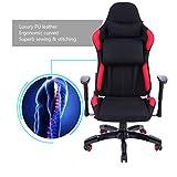 XuanYue Gaming, Hohe Rückenlehne, Drehgelenk Computer-Bürostuhl Racing Computer Stuhl Verstellbar Sport Racing Stuhl (Rot & Schwarz)