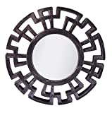 #8: Pindia Plastic Designer framed Wall Mounted Decorative Round Mirror