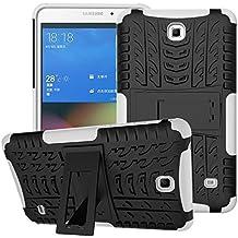Funda para Samsung Galaxy Tab 4 7.0,XITODA Hybrid TPU silicone & Duro PC Protección Cover para Samsung Galaxy Tab 4 7.0 pulgadas SM-T230/T231/T235 Tablet Case Funda con Kickstand / Stand - Blanco