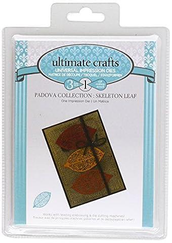 Ultimate Crafts Padova Eindruck sterben–Skelett Blatt, schwarz