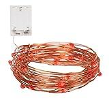 NONMON 100er LED Draht 10 Meter Micro Lichterkette Batteriebetrieb Kupferdraht LED - Rot