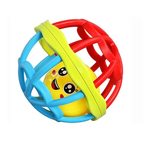 Isuper Sonajero Bebé,Juquete de Pelota,Tentetiesos Forma de Pollada Linda de Silicona Segura Juquete Infantil para niños(Pequeño)