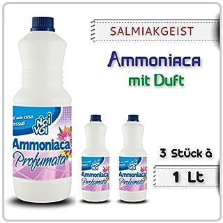 SALMIAKGEIST mit Duft 1 Liter -Ammoniaca profumata Ammoniak-Lösung- (03 Stück à 1 Lt)