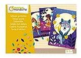 Avenue Mandarine CO166C - Une boite créative Tableaux de Gommettes comprenant 3 feuilles pré-imprimées 15x21 cm et 3 planches de gommettes (notice incluse), Nature