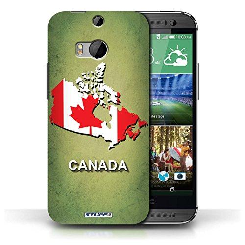 Coque de Stuff4 / Coque pour HTC One/1 M8 / Ecosse/écossaise Design / Drapeau Pays Collection Canada