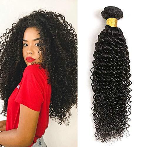 UR Beautiful 8A Brazilian Hair Bundles 100% Brazilian Remy Curly Hair Brasilianische Haare Human Hair Kinky Curly Human Hair Bundles Natural Black Color (100 +/-5g) /pc 18 Zoll -