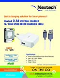 Nextech 2.1A USB Wall/Travel Charger wit...