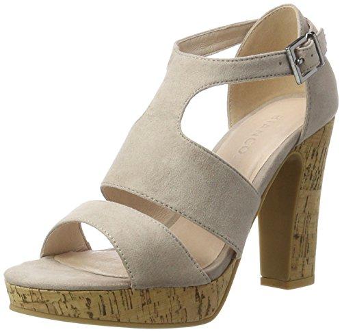 Bianco Double Strap Sandal Jfm17, Sandales  Bout ouvert femme Braun (nougat)