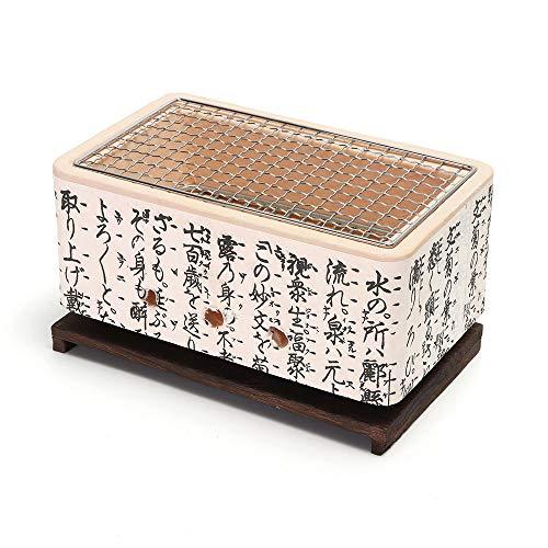 WPCBAA 4 In 1 Japanischer Keramik Hibachi BBQ Table Grill Yakitori Barbecue Holzkohle Mini Grill Bergmeal Figuline Kochherd - Hibachi Grill