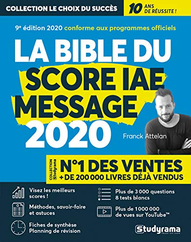 Le bible du score IAE message par  (Broché - Jul 9, 2019)