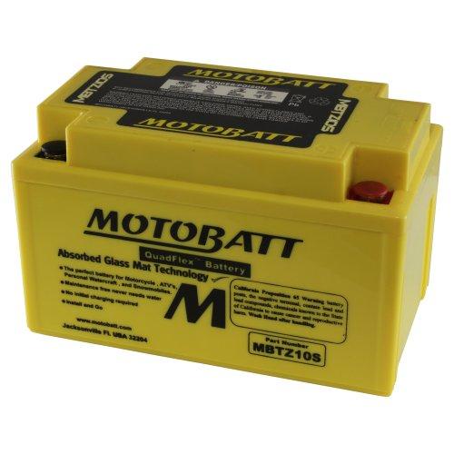 MOTOBATT MBTZ10S (12V 8.6Amp) 140CCA Factory attivato Quadflex AGM Batt