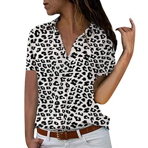 MORETIME Damen Shirt Langarm Baumwolle Frauen Plus Size Loose Print V-Ausschnitt Kurzarm Print Bluse Pullover Tops Shirt Kleidung jacken Neue frontlineshop yancor skatermarken Coole Lange (Mädchen Plus Size Jacken)