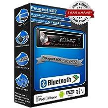 Peugeot 807 deh-4700bt estéreo del coche, USB, CD, MP3 AUX en