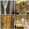 3*3m 300er LED Diamant Lichtvorhang Fernbedienung Home Dekorations Licht IP44 wasserfest Kupferkabel LED Lichterketten für Weihnachten / Deko / Party, Weihnachtsbeleuchtung, Hochzeit usw - Warmweiß von Salcar