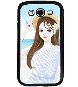 Printvisa Cute Girl On A Beach Back Case Cover for Samsung Galaxy Grand i9080:::Samsung Galaxy Grand i9082
