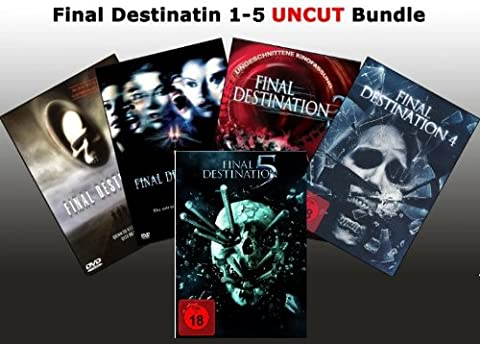 Final Destination 1+2+3+4+5 DVD UNCUT FSK 18 Edtion Set (Collection 4 Dvd-set)