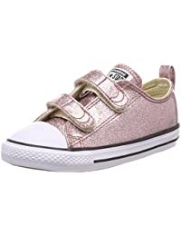 Converse Unisex Kids' CTAS 2v Ox Rose Gold/Natural/White Trainers