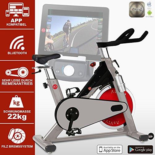AsVIVA S8 Indoor Cycle Cardio VIII – ein Fitnessbike und Heimtrainer/Fitnessgerät für das Workout inkl. Getränkehalter – das Fitnessrad/Speedbike - 2