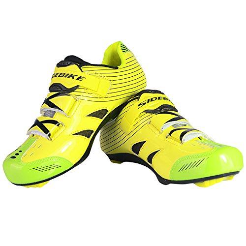 Herren Fahrrad Radsport Schuhe Atmungsaktive und anti-rutsch Gelb