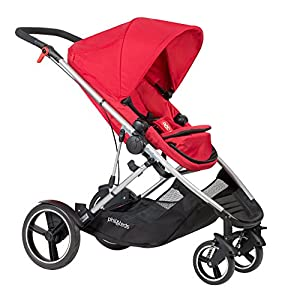 phil&teds Voyager Buggy Pushchair, Red GSDZSY ❀ Material: High carbon steel + ABS + rubber wheel, suitable for children from 6 months to 6 years old, maximum load 30 kg ❀ Features: The push rod can be adjusted in height, the seat can be rotated 360, the backrest can be adjusted, the baby can sit or recline; the adjustable umbrella can be used for different weather conditions ❀ Performance: high carbon steel frame, strong and strong bearing capacity; non-inflatable rubber wheel, suitable for all kinds of road conditions, good shock absorption, seat with breathable fabric, baby ride more comfortable 10
