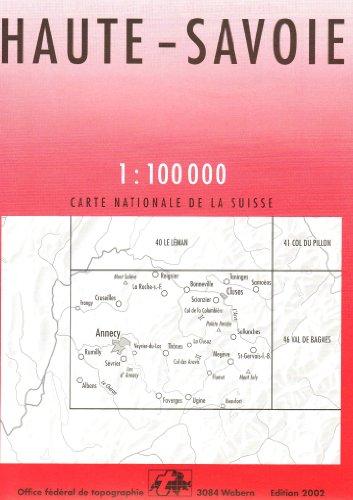 Carte routière : Haute-Savoie