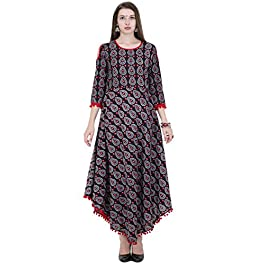 AnjuShree Choice Women's Cotton Printed Stitched Kurti